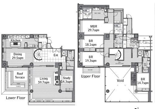 roppongi-hills-residence-penthouse-floorplan-rent