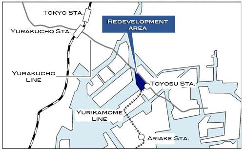100 billion Yen redevelopment project for Toyosu area