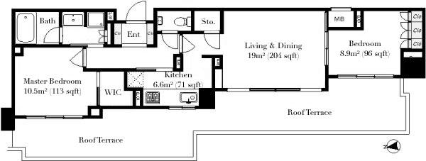 Minami Aoyama Masters House 6F Floorplan