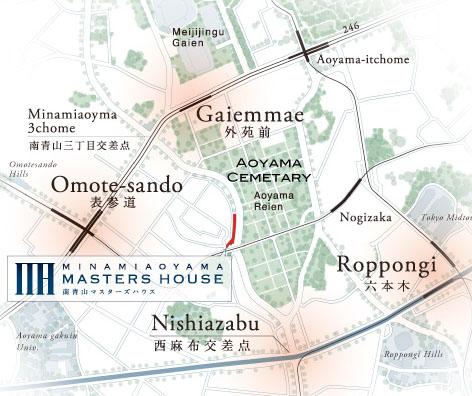 minamiaoyama-masters-house-map