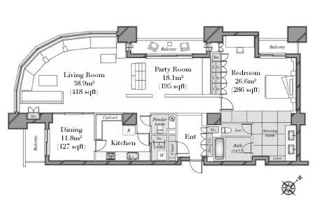 Tokyo Twin Parks Left 40F Floorplan