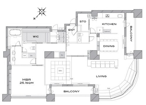 Tokyo-Twin-Parks-Right-47F-Penthouse-Floorplan – JAPAN PROPERTY CENTRAL