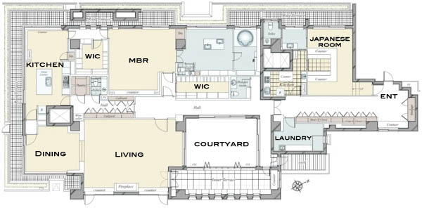 The House Minamiazabu Penthouse Floorplan Now Available Japan - Japanese house floor plans