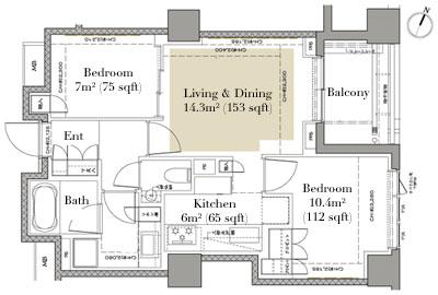 Grand Suite Hiroo 303 Floorplan
