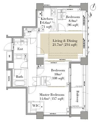 Grand Suite Hiroo 306 Floorplan