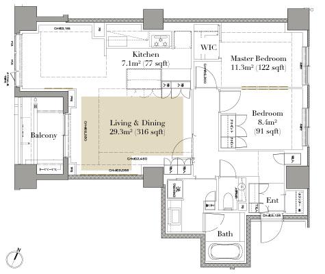 Grand Suite Hiroo 511 Floorplan