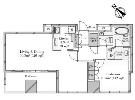 Saion Sakurazaka 3F Floorplan