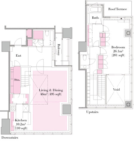 The Residence Mita 150F Modelroom Floorplan