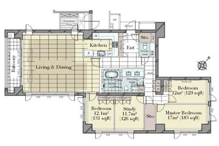 Foretseine Akasaka Hikawacho 5F Floorplan