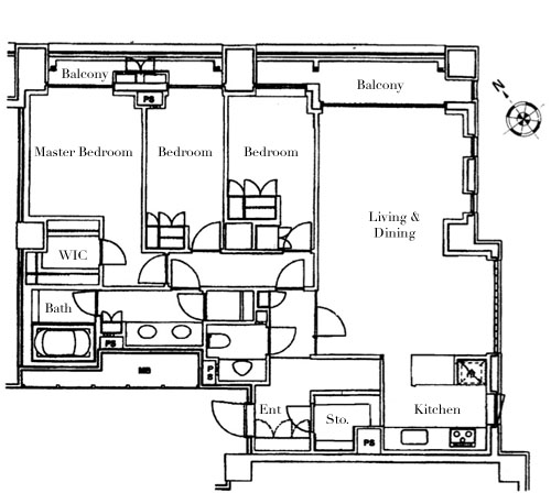 Park Mansion Roppongi 304 Floorplan