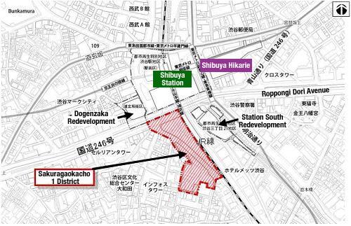 Shibuya Station Sakuragaoka Entrance Redevelopment 1