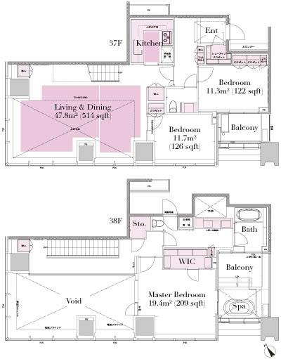 City Tower Azabujuban Penthouse 3704 Floorplan