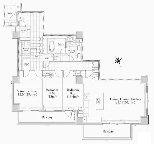 Foretseine Akasaka Hinokizaka 209 309 Floorplan