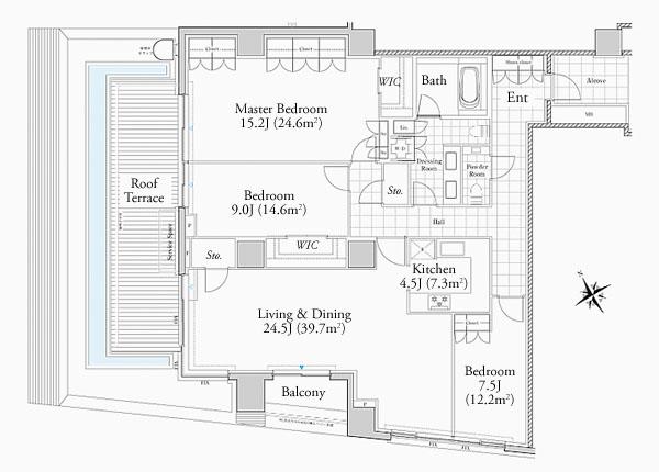 Foretseine Akasaka Hinokizaka 401 Floorplan