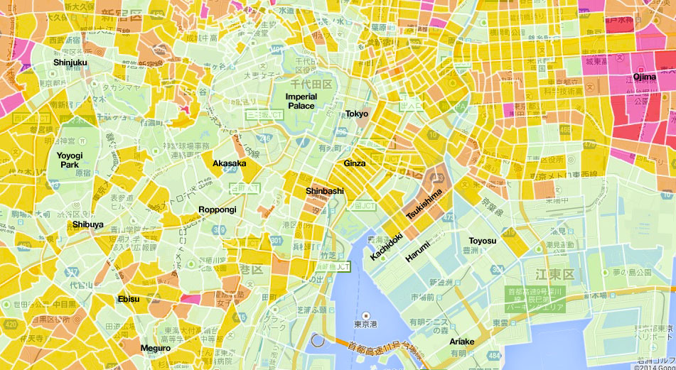 Google launches disaster prevention map for Tokyo – JAPAN PROPERTY ...