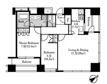 Saion Sakurazaka 7F Floorplan