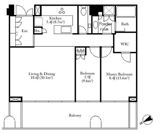 Toranomon Hills Residence 45F Floorplan