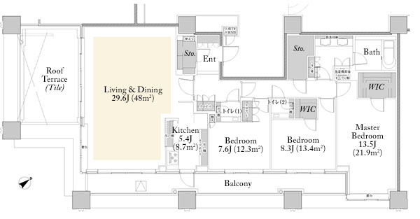 Brillia Towers Meguro North P150A Floorplan