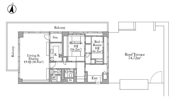 Churis Akasaka 11F Floorplan