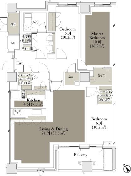 The Parkhouse Gran Minamiaoyama 115B Type Floorplan