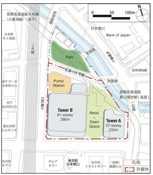 Tokyo Tokiwabashi District Redevelopment 2