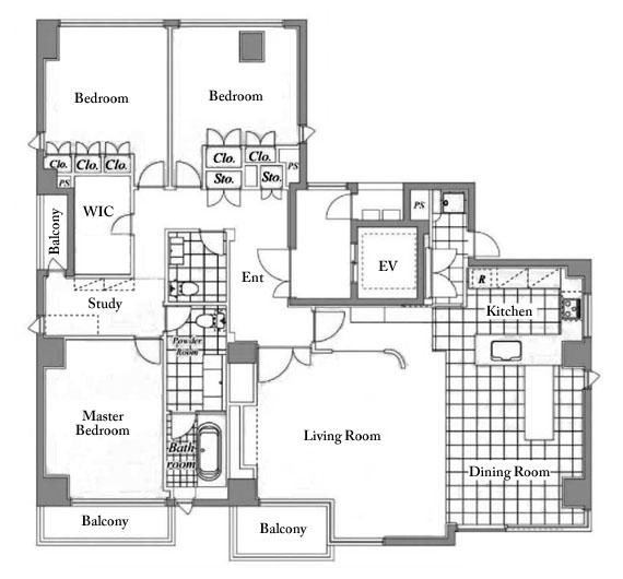 Greenhouse Apartments: The Greenhouse Shirokanedai 5F