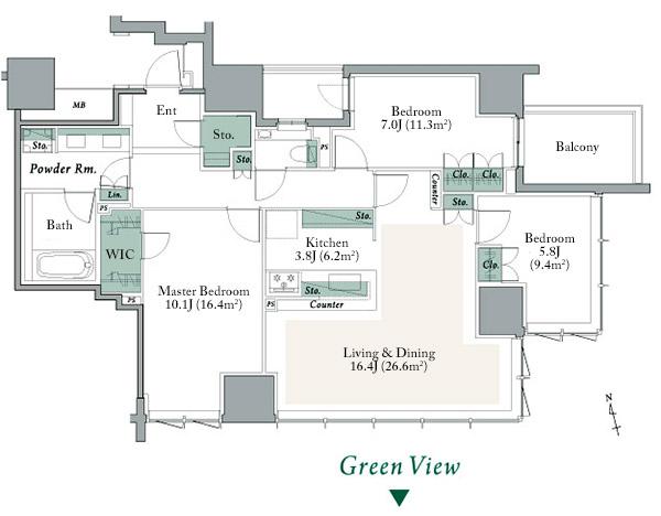 The Parkhouse Shinjuku Gyoen D Type Floorplan