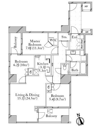 Branz Azabu Mamianacho 3F Floorplan
