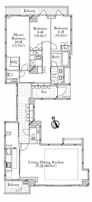 Proud Motoazabu 4F Floorplan