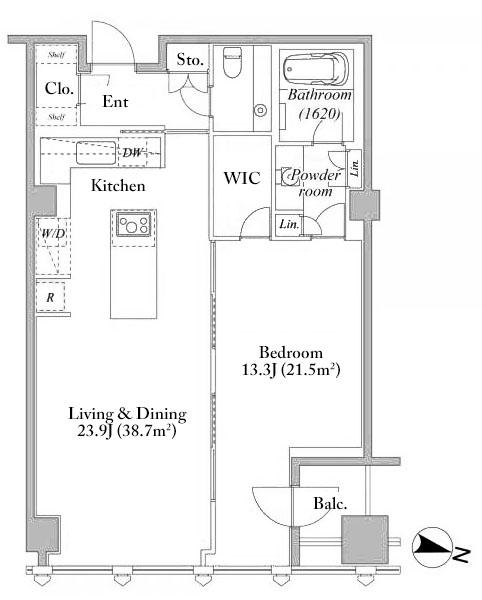 Hirakawacho Mori Tower Residence 19F Floorplan