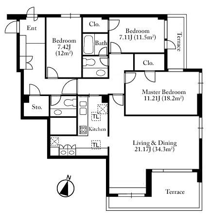 Belte Omotesando 3F Floorplan