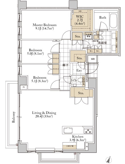 Grande Maison Omotesando H Type Floorplan