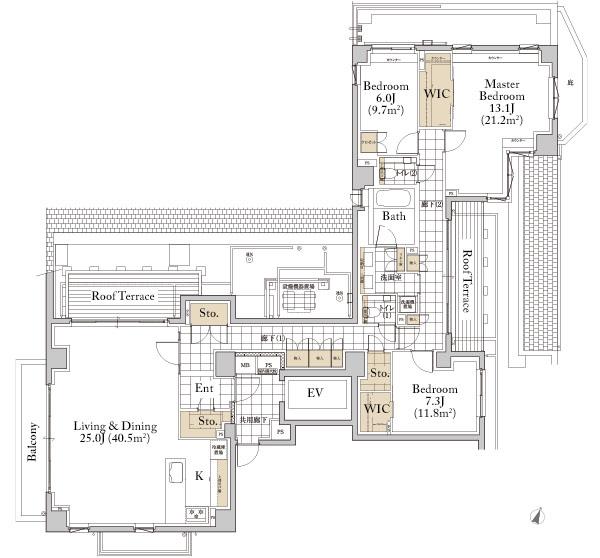 Grande Maison Omotesando I Type Floorplan