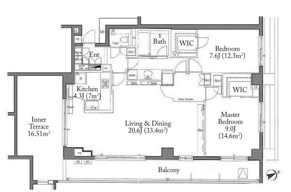 Park Court Minami Aoyama Hilltop Residence 5F PH Floorplan