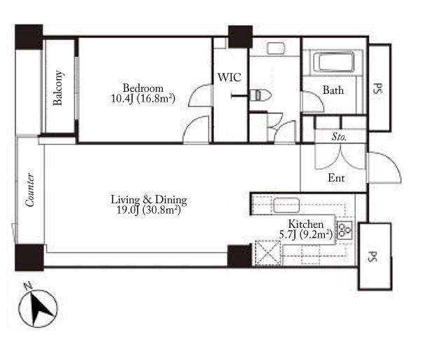 The Westminster Roppongi 12F Floorplan