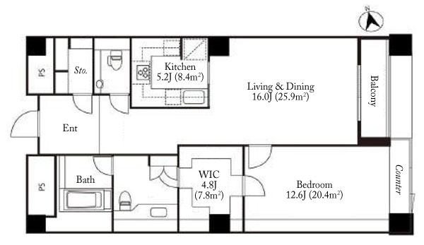 The Westminster Roppongi 6F Floorplan