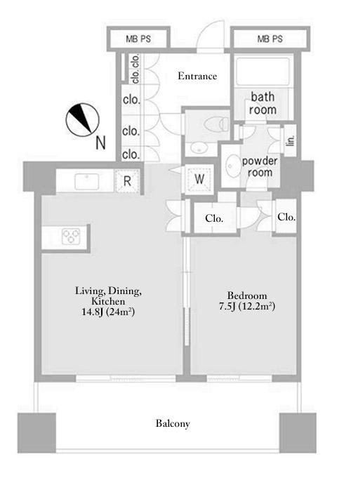Ark Hills Sengokuyama Residence 8F Floorplan