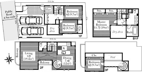 Kamiyamacho House 1