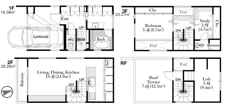 Roppongi 5 House Floorplan