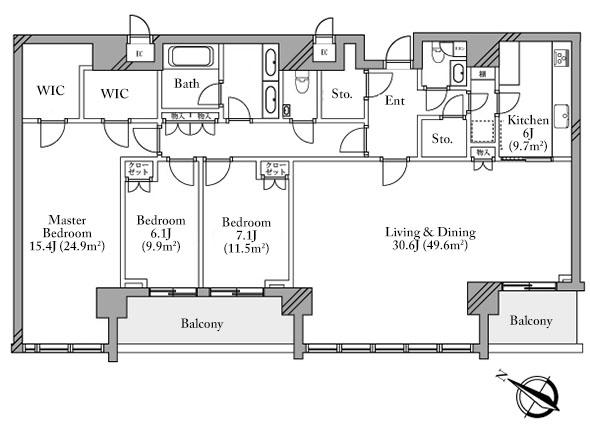 The Roppongi Tokyo 39F Penthouse Floorplan