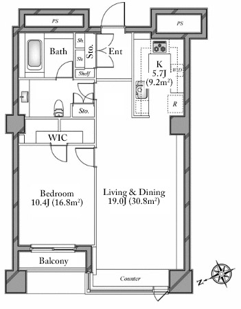 The Westminster Roppongi 11F Floorplan