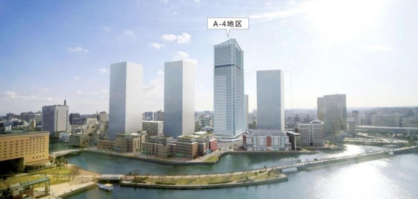58-storey residential tower and hotel planned for downtown Yokohama