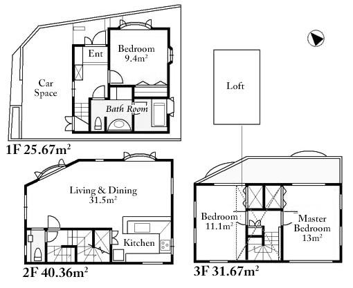 Jingumae 3 House Floorplan