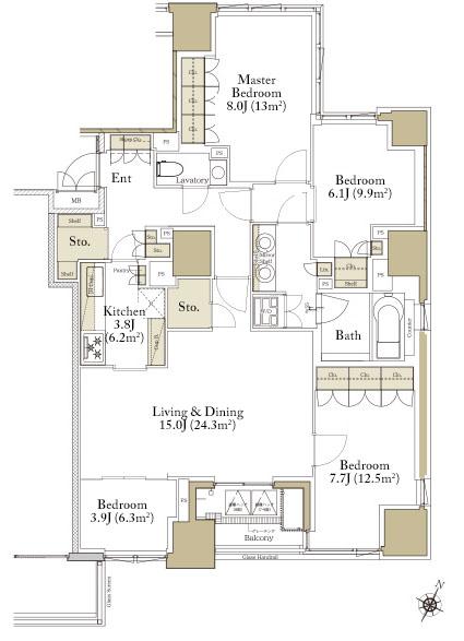 Premist Rokubancho G Type Floorplan