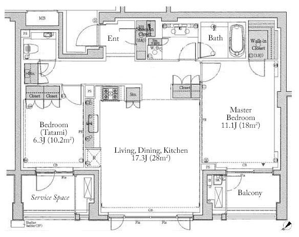 Bliss Beige Jingumae 4F Floorplan