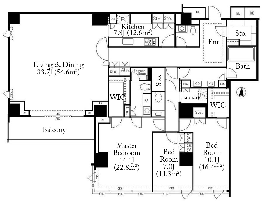 Forest Terrace Toriizaka 4F Floorplan
