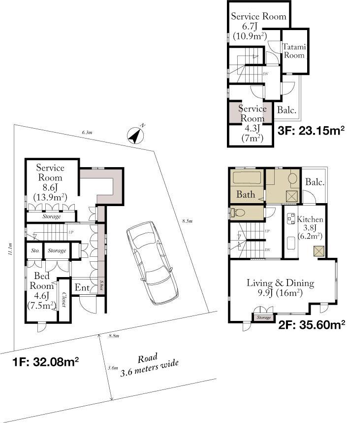 Jingumae 4 House Floorplan