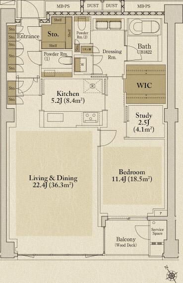 Proud Roppongi C Type Floorplan
