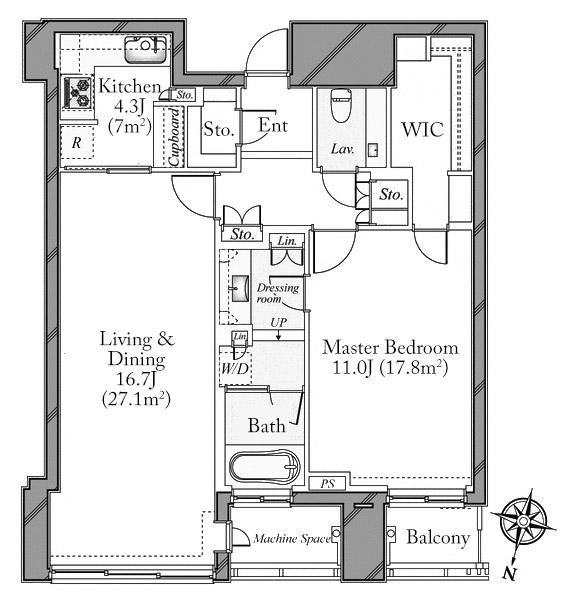 Akasaka Tower Residence 30F 1LDK 1