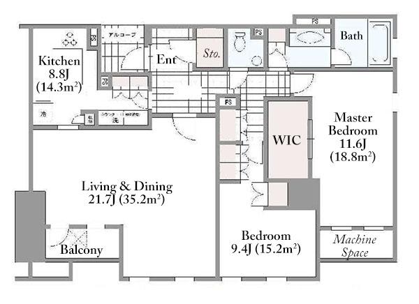 Grande Maison Minami Aoyama 4F Floorplan